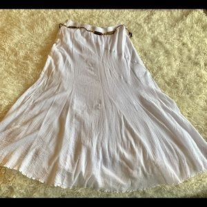 AGB White Long Skirt with Over and Under Layers.